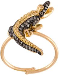 Christina Debs - Crocodile Diamond Ring - Lyst