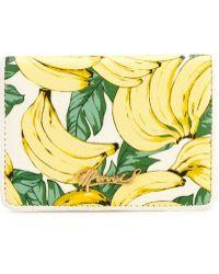 MUVEIL - Banana Print Cardholder Wallet - Lyst