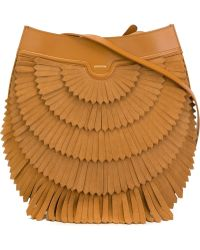 Agnona - 'polette' Fringed Shoulder Bag - Lyst