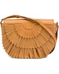 Agnona - Flap Fringed Shoulder Bag - Lyst