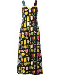 Tata Naka - Sleeveless Medal Print Silk Jumpsuit - Lyst