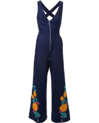 Adam Selman | Embroidered Jumpsuit | Lyst