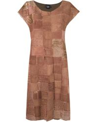 Fernanda Yamamoto - Embroidered Round Neck Dress - Lyst
