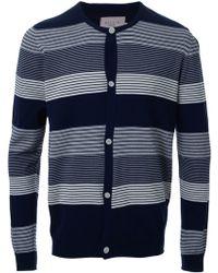 Factotum - Striped Cardigan - Lyst