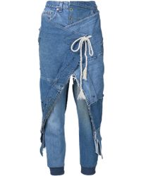 Greg Lauren - 'warrior' Denim Trousers - Lyst
