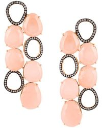 Christina Debs - Diamond And Jade Earrings - Lyst