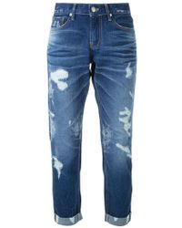 Guild Prime - - Ripped Cropped Jeans - Women - Cotton/polyurethane - 36 - Lyst