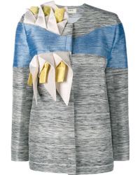 Tata Naka - Calla Lilly Embellished Silk Jacket - Lyst