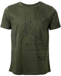 Fad Three - - Notes Print T-shirt - Men - Cotton - L - Lyst