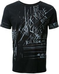 Fad Three - - Notes Print T-shirt - Men - Cotton - M - Lyst