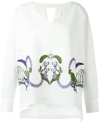 Mame - Floral Embroidery V-neck Jumper - Lyst