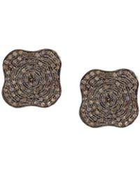 Carole Shashona - 'lotus' Diamond Stud Earrings - Lyst