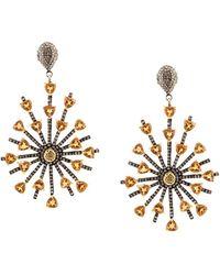 Carole Shashona - 'sun Sparkler' Diamond Earrings - Lyst