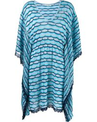 Cecilia Prado - Striped Knit Kaftan - Lyst