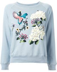 MUVEIL - Embellished Embroidered Sweatshirt - Lyst