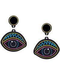 Yazbukey - Eye Pendant Earrings - Lyst