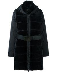 Guy Laroche - Detachable Sleeve Padded Coat - Lyst