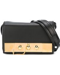 Anthony Vaccarello - Gold-tone Detail Clutch - Lyst