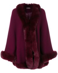 N.Peal Cashmere | Fur Trimmed Cape | Lyst