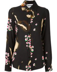 Moschino - Burned Effect Floral Shirt - Lyst