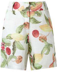 Isolda - - Printed Shorts - Women - Linen/flax - 42 - Lyst