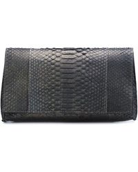 B May - Snakeskin Clutch - Lyst