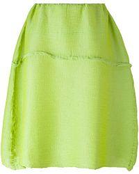Issey Miyake Cauliflower - Elasticated Waist Skirt - Lyst