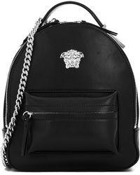 Versace Mini Medusa Backpack in Black - Lyst 3ce7c9ea69