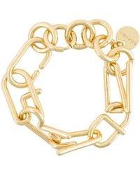 Carven - Logo Chain Bracelet - Lyst