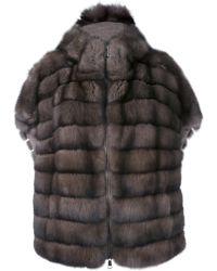 Manzoni 24 | Short Sleeve Fur Coat | Lyst