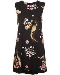 Moschino - Burned Effect Floral Dress - Lyst