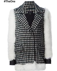 Yigal Azrouël - Contrast Sleeve Checked Coat - Lyst