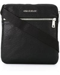 2138ce1400c Lyst - Armani Jeans Front Zipped Messenger Bag in Black for Men