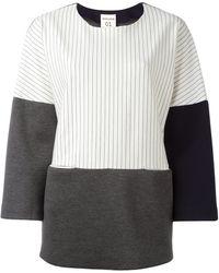 Erika Cavallini Semi Couture - Striped Loose-fit Sweatshirt - Lyst