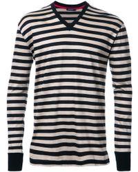 Loveless - Skull Print Striped T-shirt - Lyst