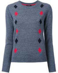 Loveless - Diamond Intarsia Jumper - Lyst