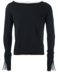 Telfar - Raw Edge Layered Sweatshirt - Lyst