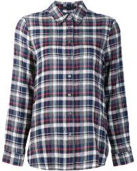 Jenni Kayne - Checked Jersey Shirt - Lyst