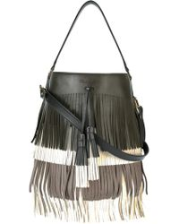 Santoni - Fringed Bucket Shoulder Bag - Lyst