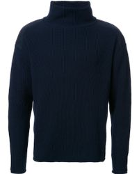 Factotum - Ribbed High Neck Jumper - Lyst
