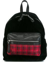 Fefe - Fefè Checked Pocket Backpack - Lyst
