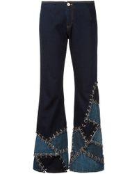 Jean Paul Gaultier - Crushed Effect Jeans - Lyst
