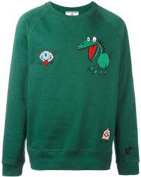 Andrea Pompilio - Embroidered Cartoons Sweatshirt - Lyst