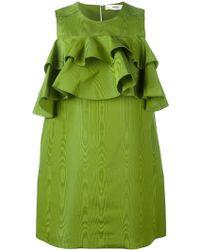 Bally - Ruffled Mini Dress - Lyst