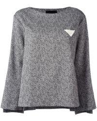 Erika Cavallini Semi Couture - Round Neck Sweatshirt - Lyst