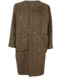 Daniela Gregis - Tweed Safety Pin Coat - Lyst