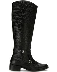 Mara Mac - Textured Leather Boots - Lyst