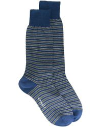 Canali - Striped Socks - Lyst