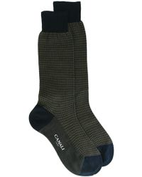 Canali - Houndstooth Pattern Socks - Lyst