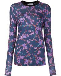 Carven | Floral Print Sweatshirt | Lyst